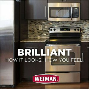 Weiman Stainless Steel Cleaner and Polish - Streak-Free Shine for Refrigerators, Dishwasher, Sinks, Range Hoods and BBQ grills - 22 fl. oz. for Sale in Riverview, FL