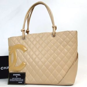 Auth CHANEL Beige Quilted Cambon Ligne Tote Bag for Sale in Ontario, CA