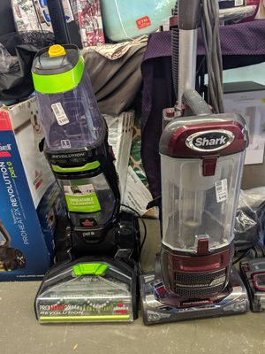 Ridiculous deals on Shark vacuums! As well as Bissell carpet steamers for Sale in Vancouver, WA