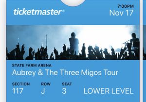 2 Drake & Migos Concert Tickets for Sale in Warner Robins, GA