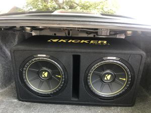 Kicker 12 Inch Car Subwoofer and Subwoofer amplifier for Sale in Philadelphia, PA