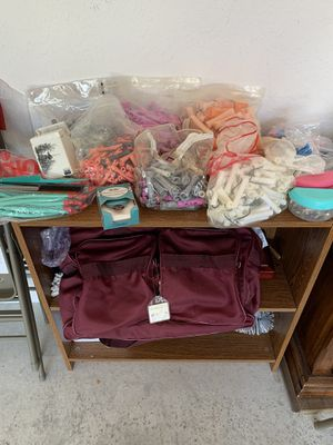 Beauty Supplies - Perm rods, paper, combs, clips, misc, and bag for Sale in Port St. Lucie, FL