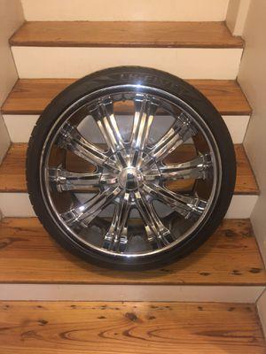 20 inch Rims 5 Lug w/tires 235/35ZR20 for Sale in Powder Springs, GA