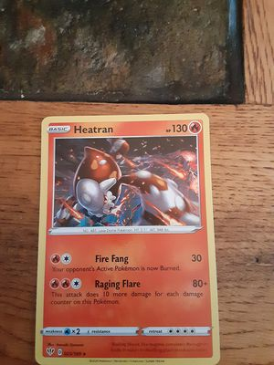 Holographic Heatran Pokemon Card for Sale in Salem, MA