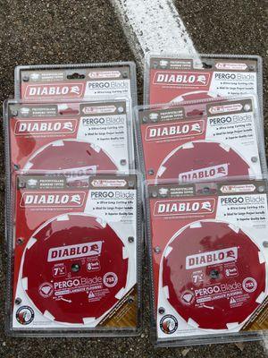 Diablo Diamond Tipped Pergo blade 7 1/4 laminate flooring $200 take all for Sale in Houston, TX