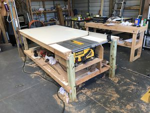Dewalt table saw and shop table for Sale in Tampa, FL