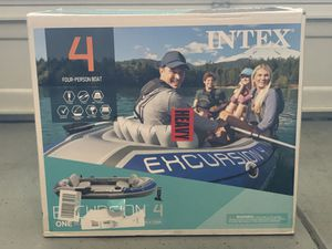 Intex Excursion Inflatable Boat Series - 4 Person Boat for Sale in Hayward, CA