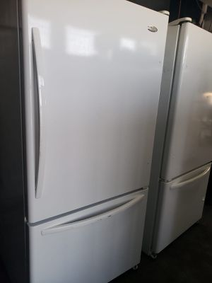 On Sale Whirlpool Refrigerator Fridge White Bottom Freezer #832 for Sale in Ontario, CA