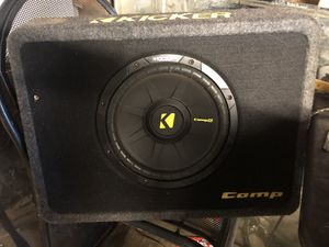 1 Car amplifier and 2 subwoofers in box for Sale in NEW PRT RCHY, FL
