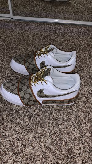 Custom Gucci leather Nike Air Force Ones size 10 for Sale in Moreno Valley, CA