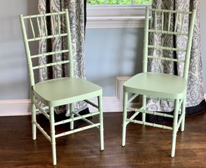 Custom Painted Green chairs and custom Cushions for Sale in Westlake, MD