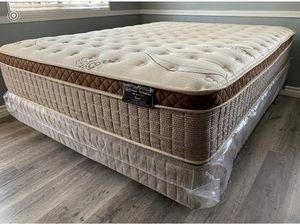 Organic europillop top full size Mattress with boxpring Included for Sale in Clovis, CA