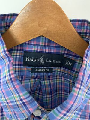 Men's Ralph Lauren Polo shirt. Size: M, Color: Multi, Design: Long Sleeve for Sale in Silver Spring, MD