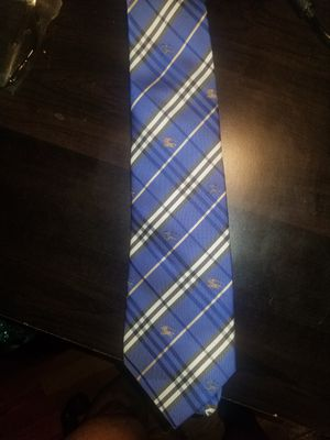 [Like New] Burberry Nova Check Tie Blue for Sale in Smithtown, NY
