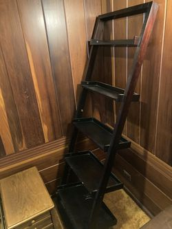 Beautiful black ladder shelf for Sale in Hinsdale,  IL