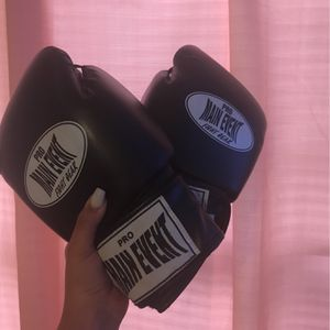 Boxing gloves ,Black, Used two times for Sale in Ontario, CA
