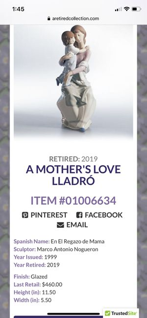 Retired Lladro- A Mother's Love for Sale in Henderson, NV