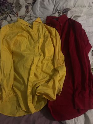 Red and yellow XL dress shirts (Pappasitos uniform approved) for Sale in Houston, TX