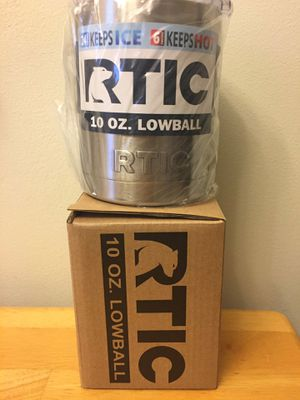 NEW in box - RTIC Stainless Steel 10 oz. Lowball Tumbler with Lid for Sale in Herndon, VA