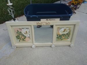 Wall mirror with knobs for Sale in Port St. Lucie, FL