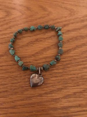 Turquoise Bracelet with heart Charm for Sale in Atwater, CA