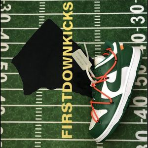 Nike Dunk Low LTHR Ow White Pine Green Size 8 Off White virgil abloh for Sale in Waldorf, MD
