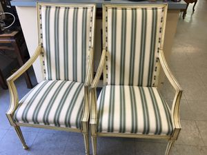 Pair Louis XVI style chairs for Sale in Fort Washington, MD