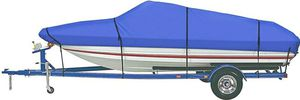 iCOVER Trailerable Boat Cover, 600D Heavy Duty Waterproof UV Resistant Marine Grade Polyester for Sale in Tustin, CA