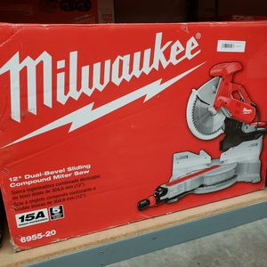 Milwaukee 12 in. Dual Bevel Sliding Compound Miter Saw for Sale in Norwalk, CA
