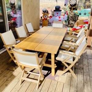 Teak? Table / Patio / Outdoor / Chairs NOT included / Like New / Solid & Cery Heavy for Sale in Chula Vista, CA