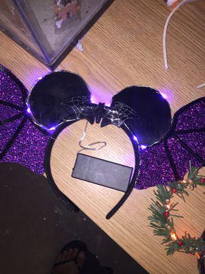Disney purple and black bat ears light up cute for Sale in Buckeye, AZ