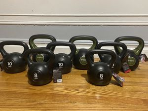Kettle bell weights 8lb, 10lb, 15lb for Sale in The Bronx, NY