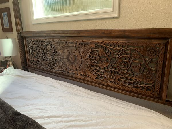 Teak wood bed from Bali