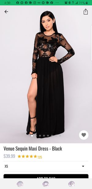 Fashion Nova Venue Sequence Maxi Dress for Sale in Norfolk, VA
