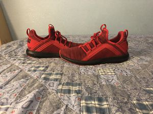 (Puma) Mega NRGY Heather Knit Men's Red Low atop Althletic Gym Running Shoes for Sale in Hayward, CA