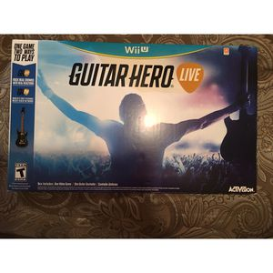 Nintendo Wii U Guitar Hero Live w Guitar for Sale in Plantation, FL