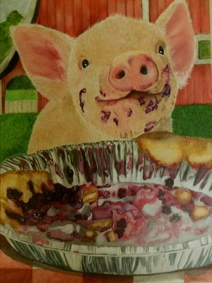Little Pig Original Artwork for Sale in Wetumpka, AL