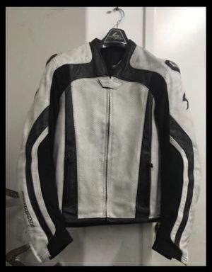 $80 SCORPION MOTORCYCLE LEATHER JACKET + MATCHING GLOVES for Sale in North Las Vegas, NV