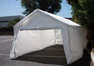 20'x12' Complete set Garage Carport w/Side Wall & Frames Car Shelter Outdoor Party Event Canopy Tent for Sale in ROWLAND HGHTS, CA