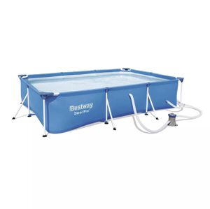 Bestway Steel Pro 9.8ft x 5.6ft x 26in Above Ground Swimming Pool Set with Pump for Sale in Fresno, CA