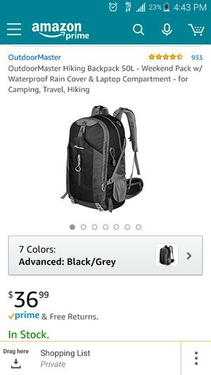 Outdoor Master Hiking Backpack for Sale in Saint Petersburg, FL