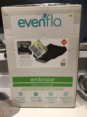 NEW - Evenflo (A-46) Embrace Infant Baby Car Seat Base (Black) for Sale in Woodstock, GA