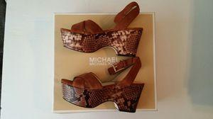 Michael Kors Ariel Mid Wedge Open Toe 5.5 for Sale in Houston, TX