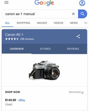 Canon AE 1 film camera with 55mm manual focus lens for Sale in Lexington, KY