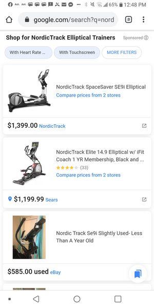 Nordictrack elliptical for Sale in San Antonio, TX
