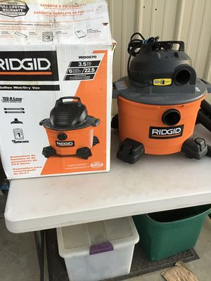 Ridged 6 Gallon Wet/Dry Shop Vac for Sale in Acampo, CA