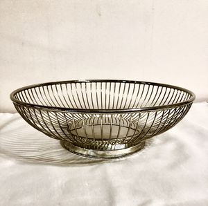 Godinger Bread/Fruit Basket. Silver Plate for Sale in Raleigh, NC