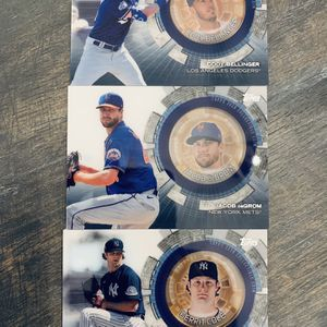 Topps 2020 Commemorative Coin Cards. Cody Bellinger, Jacob DeGrom, Gerrit cole for Sale in Oceanside, CA