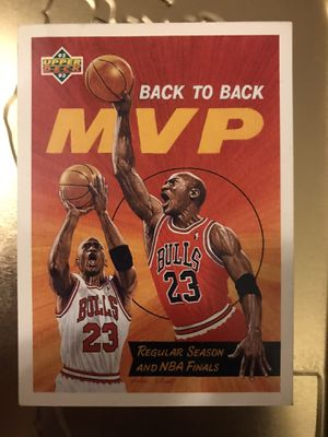 Michael Jordan 92-93 Upper Deck Back to Back MVP #67 for Sale in Arlington, VA