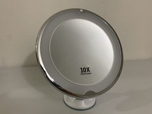 JUHALL 10X Magnifying Makeup Vanity Mirror With Lights, LED Lighted Bathroom Mirror for Sale in Rancho Cucamonga, CA